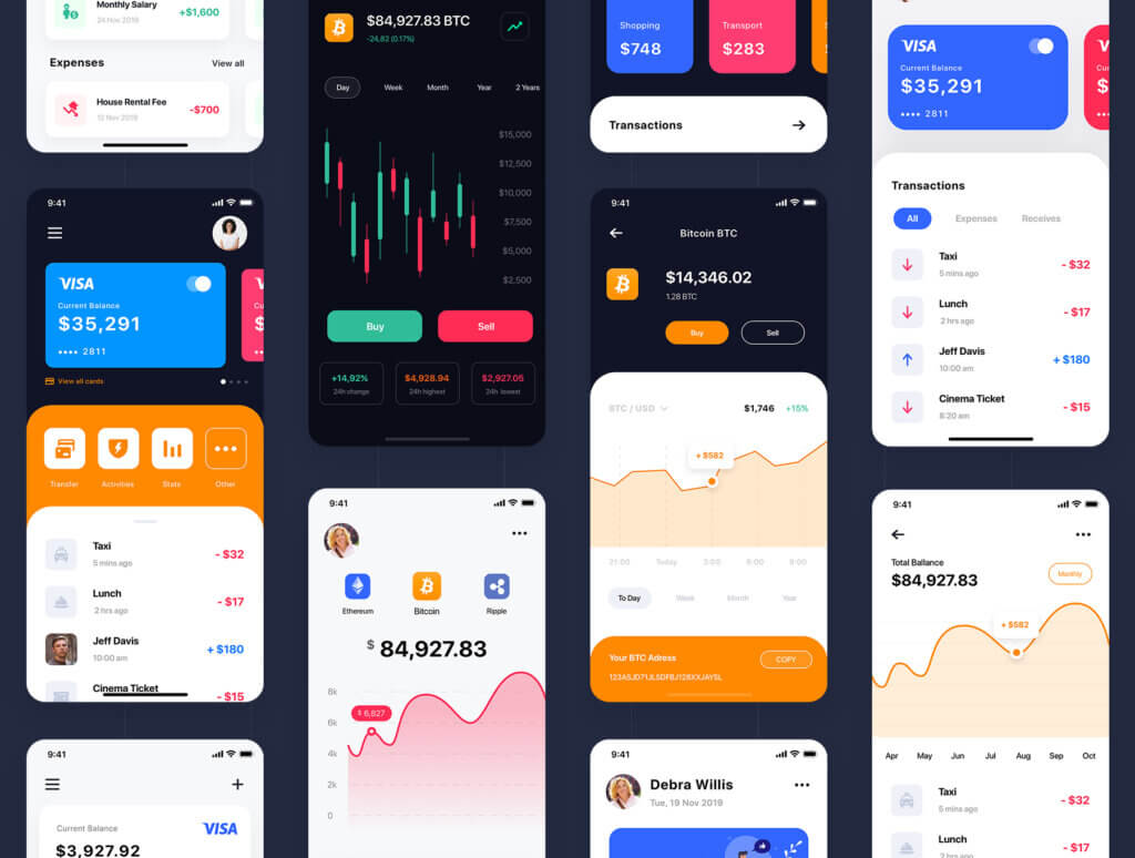 加密钱包货币数字/金融UI设计套件工具包Curium – Financial UI Kit插图(4)