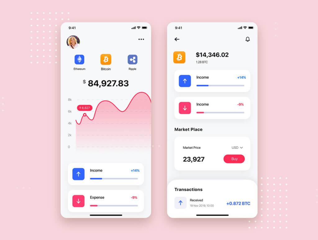 加密钱包货币数字/金融UI设计套件工具包Curium – Financial UI Kit插图(6)