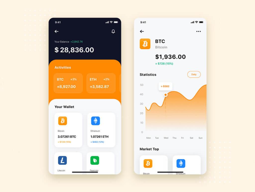 加密钱包货币数字/金融UI设计套件工具包Curium – Financial UI Kit插图(7)