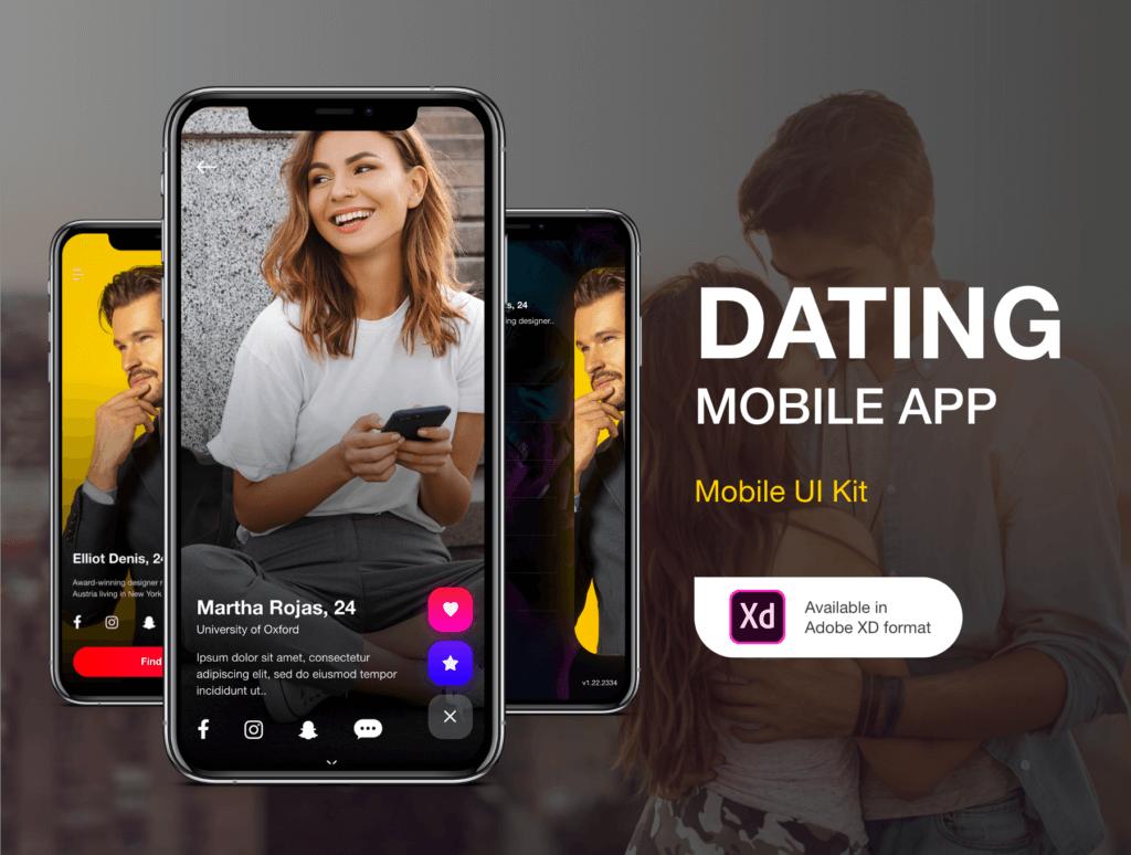约会概念主题UI界面素材模板下载Dating Application UI Kit插图(1)