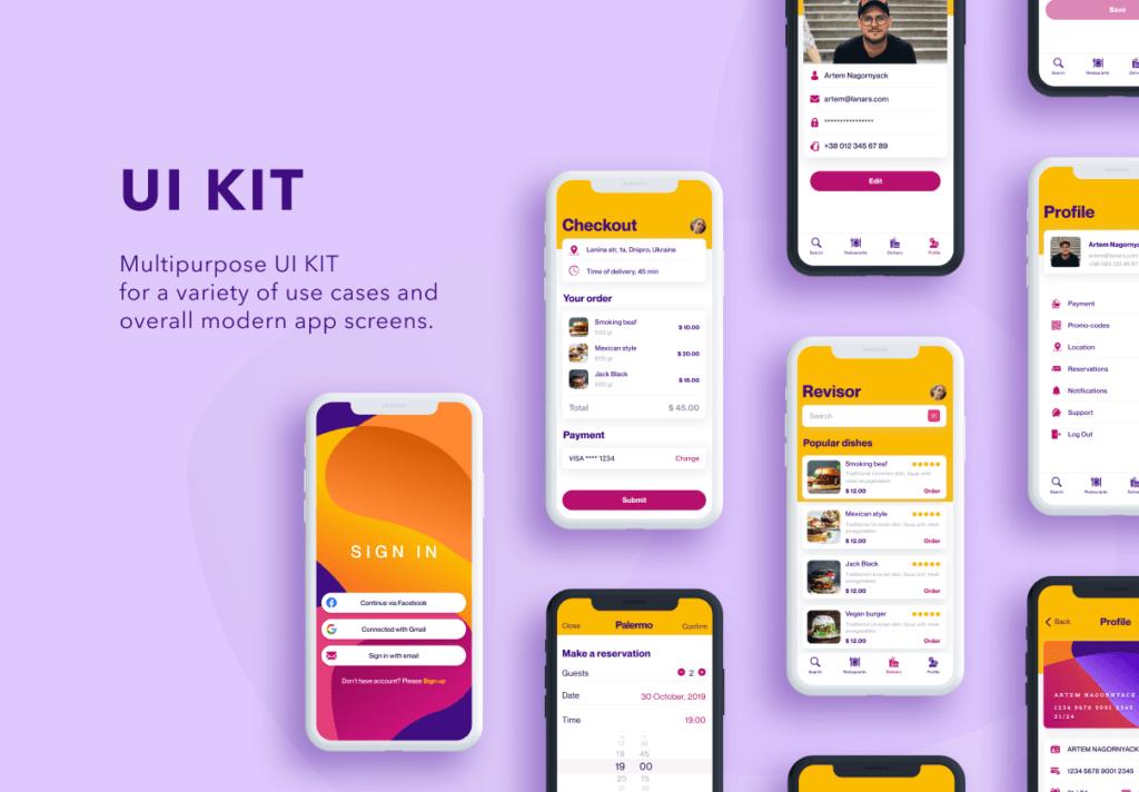 交付管理类UI工具包设计套件素材Delivery UI Kit插图