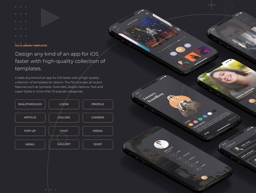 创意音乐概念设计UI界面素材模板Heron IOS UI Kit插图(2)