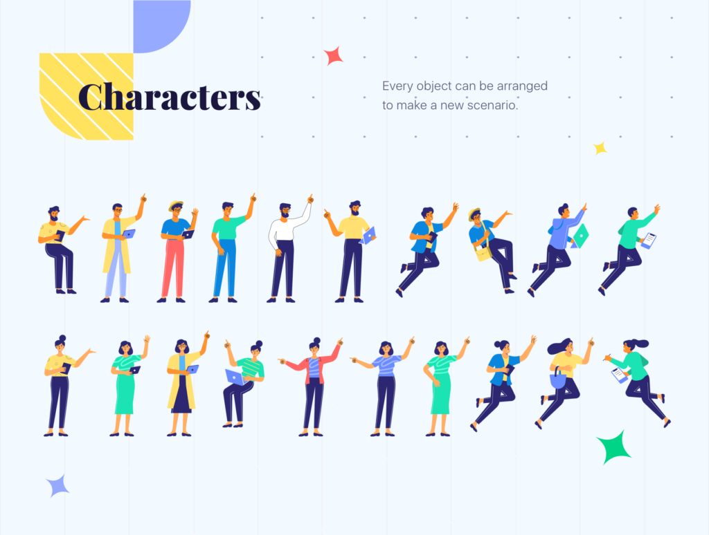 网站商业插画/企业互联网从业人员场景插图素材下载Jumeneng – Business Scenes Creator插图(3)