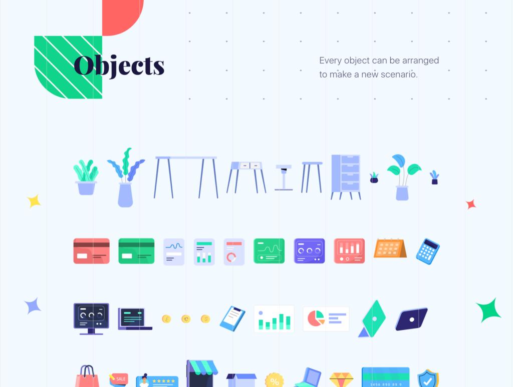 网站商业插画/企业互联网从业人员场景插图素材下载Jumeneng – Business Scenes Creator插图(4)