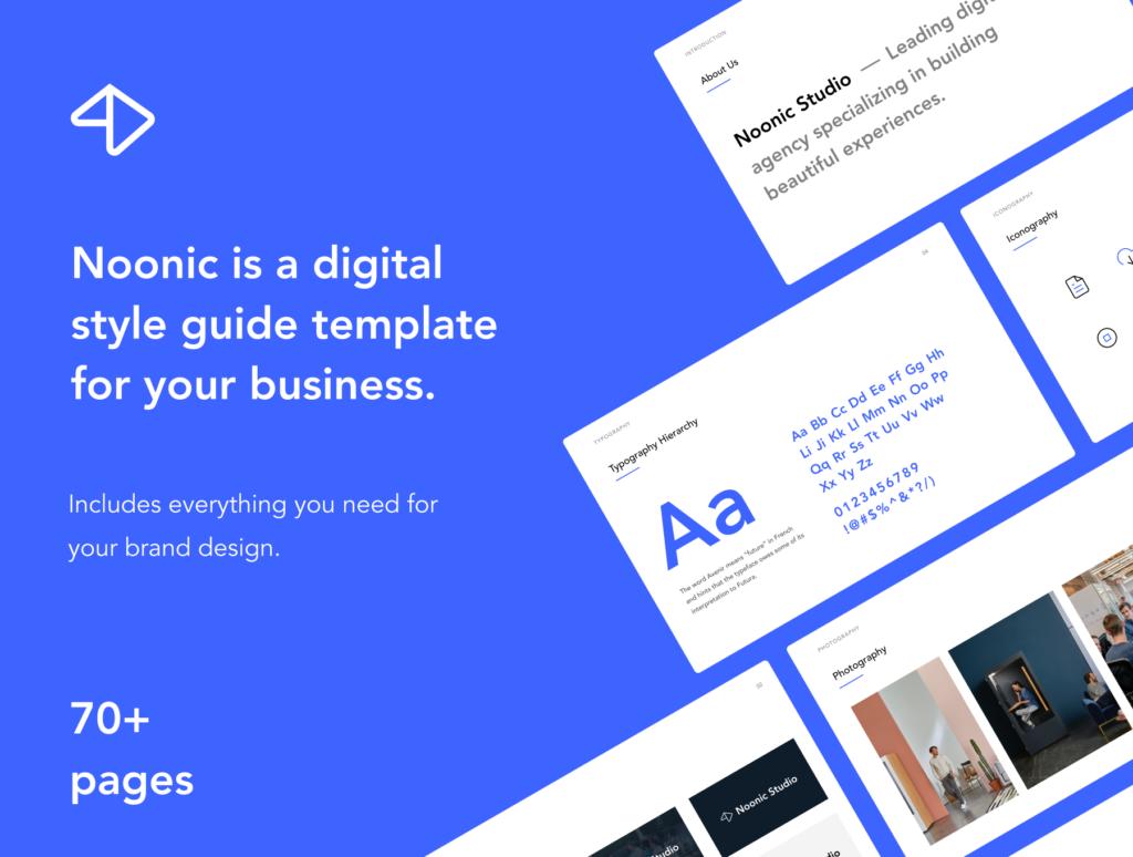 品牌书籍和风格指南演示模板素材下载Noonic – Brand Identity & Style Guide插图(2)