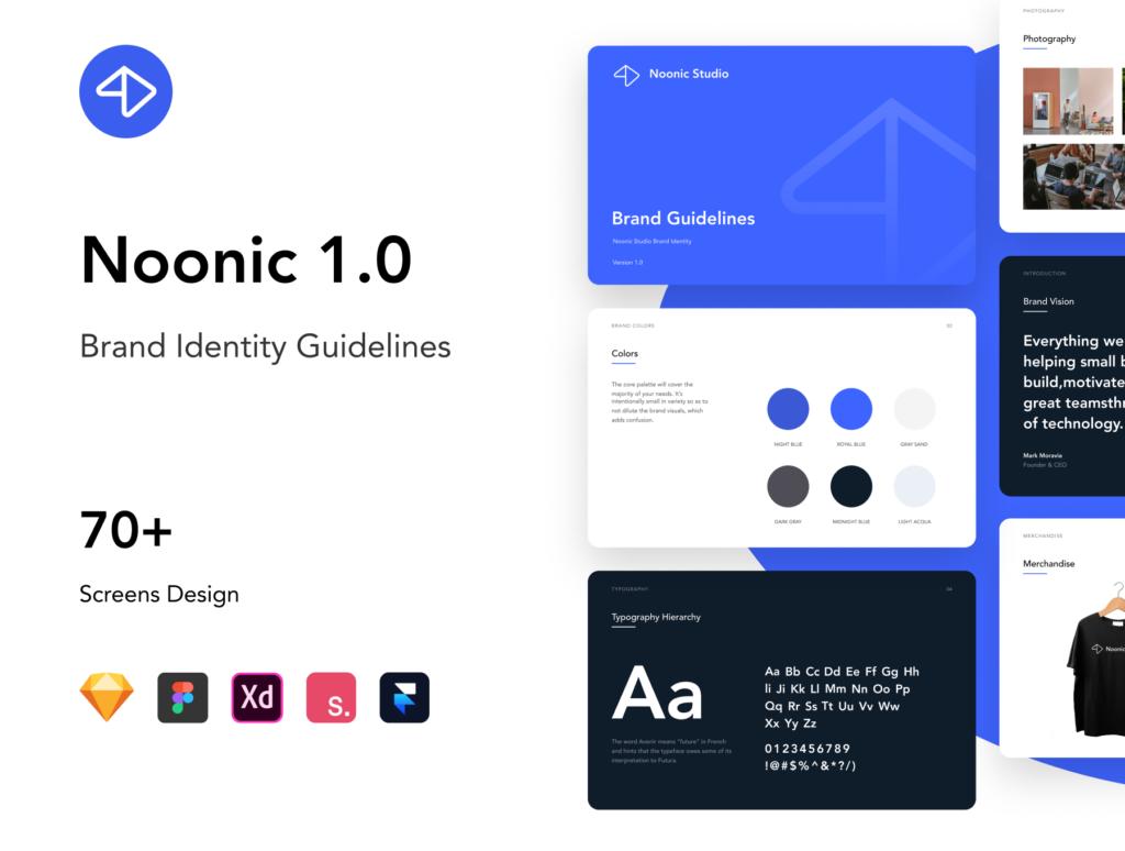 品牌书籍和风格指南演示模板素材下载Noonic – Brand Identity & Style Guide插图(1)