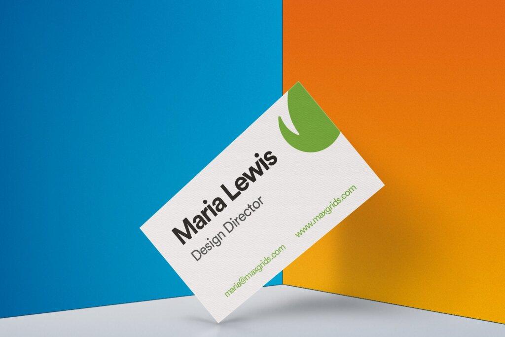 高端逼真透视角度样机模板素材下载Business Card Mockup 02插图