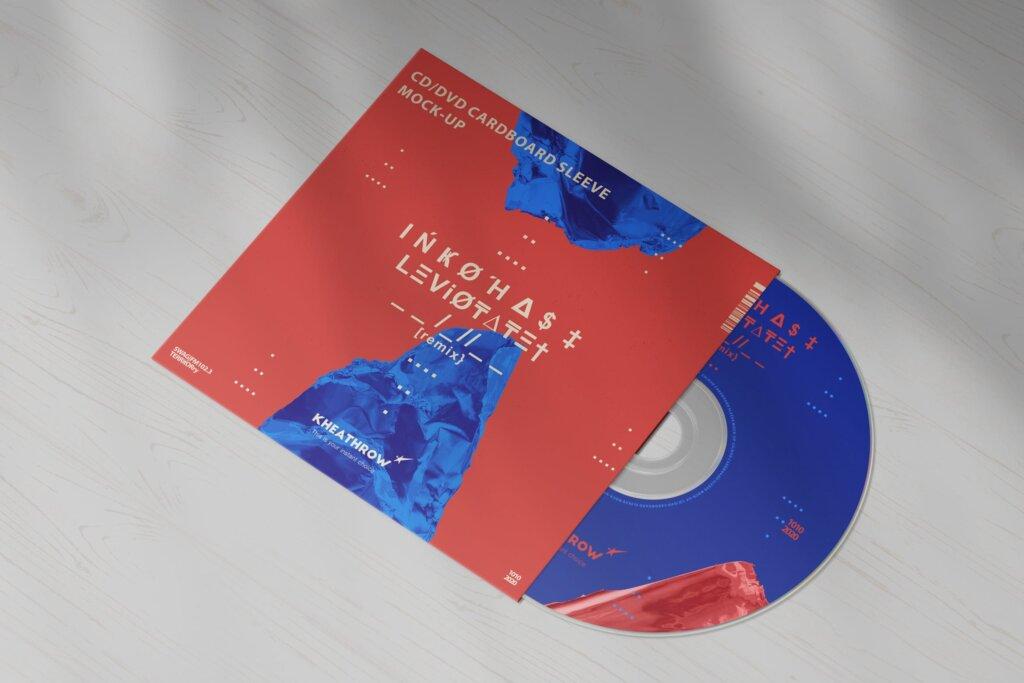 精致现代音乐唱片CD / DVDСard实物模型样机素材模型CD / DVD Сardstock Paper Sleeve Mock Ups Vol 1插图