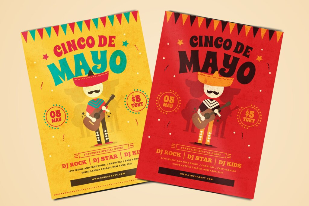 传统节日海报传单模板素材下载Cinco De Mayo Flyer YU5TBU插图