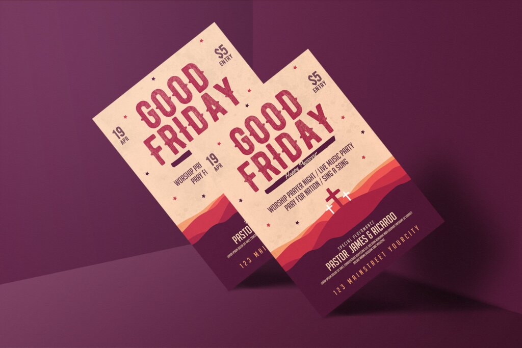 复活节海报活动宣传单模板Easter Flyer插图