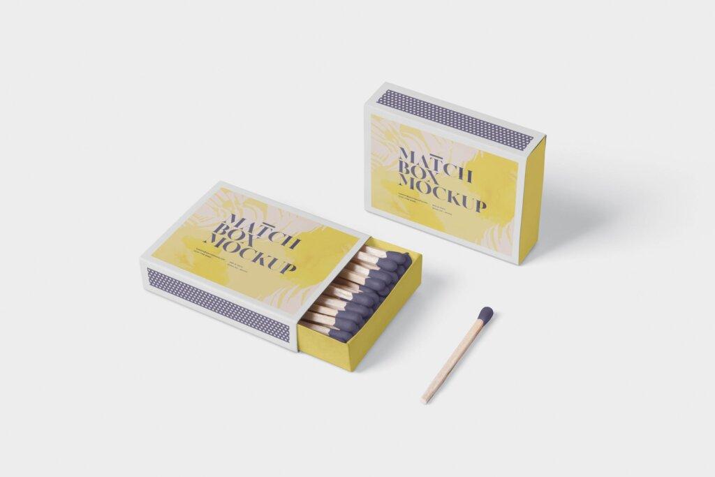 精致文艺高级火柴盒模型样机素材Match Box Mock Up Set插图