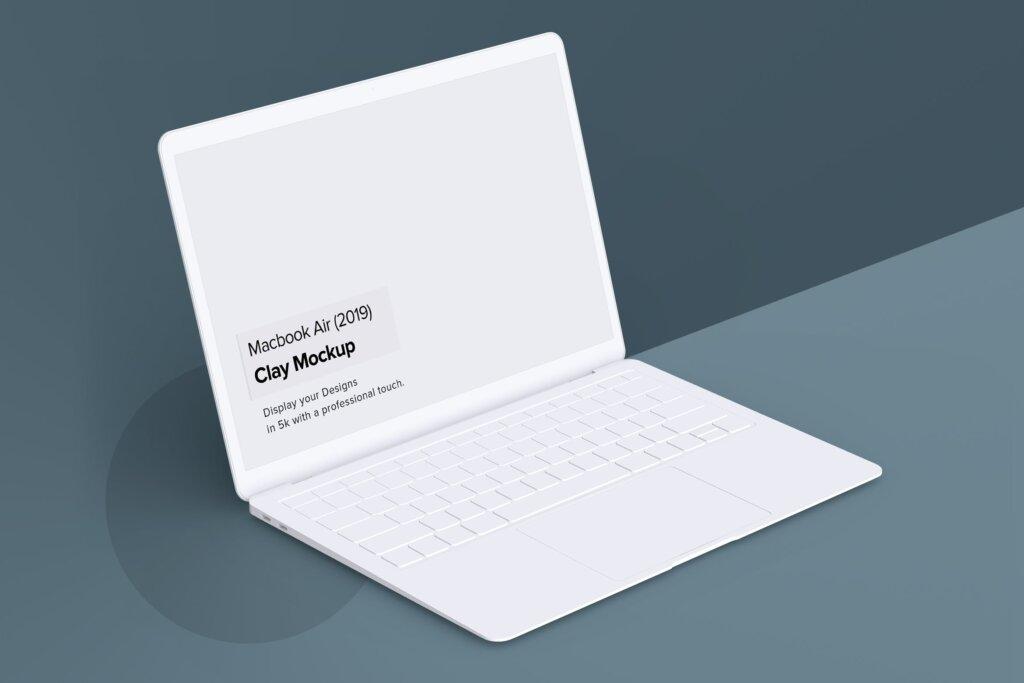 高端多种透视角度Macbook Air苹果电脑素材样机Minimal Macbook Air Mockup插图