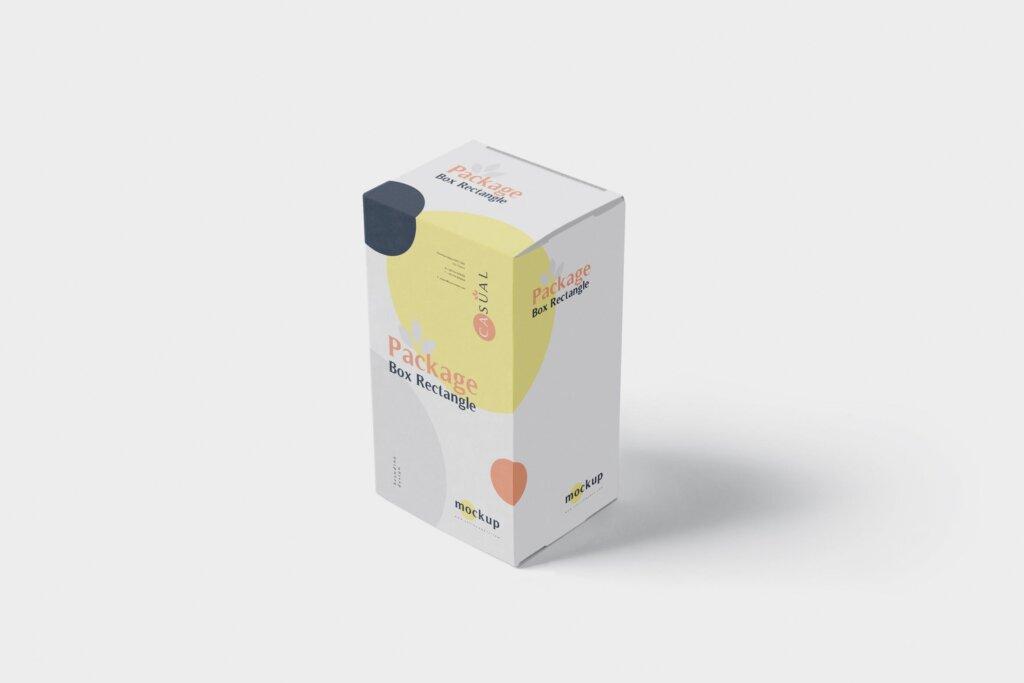 包装盒模型素材样机素材下载Package Box Mock Up Rectangle NMX66G5插图