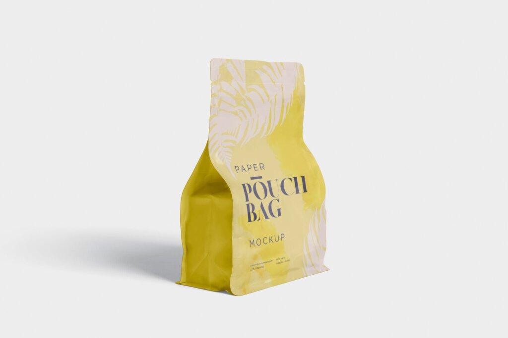 牛皮纸包装袋模型样机素材下载Paper Pouch Bag Mockup 85QZ8AW插图