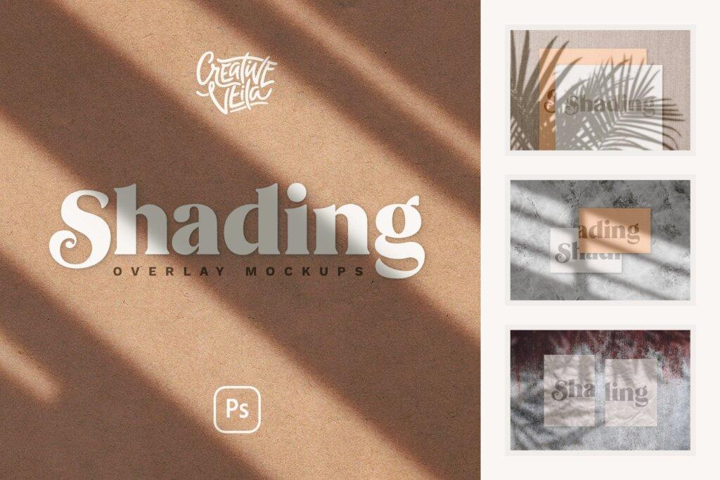 企业品牌办公识别系统模板素材样机下载Shadow Overlay Stationery Mockup Set插图