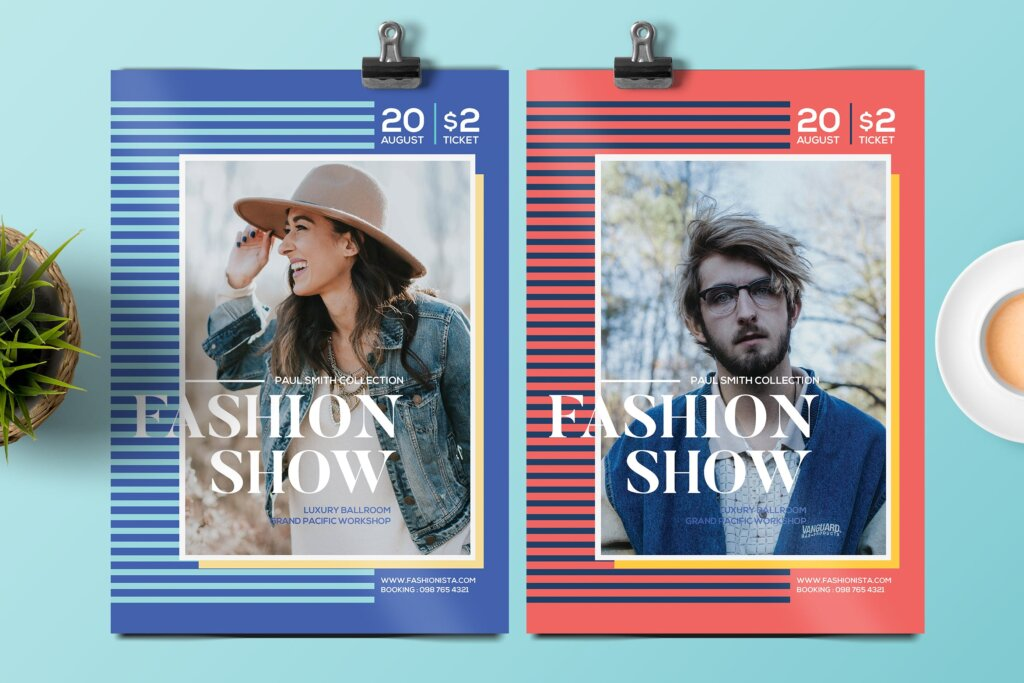 青年时装表演宣传单海报模板Youth Fashion Show Flyer插图