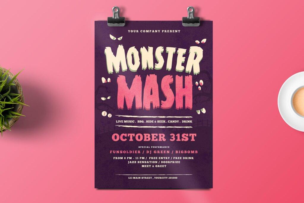 万圣节海报宣传单模板halloween Flyer DWQEMJ插图