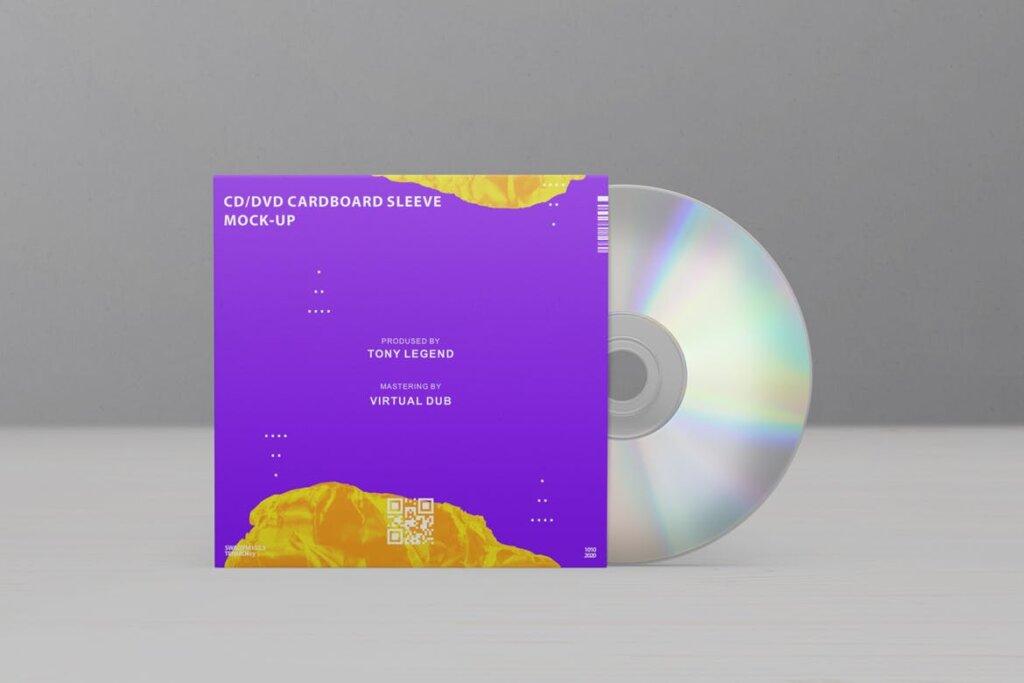 精致现代音乐唱片CD / DVDСard实物模型样机素材模型CD / DVD Сardstock Paper Sleeve Mock Ups Vol 1插图(10)
