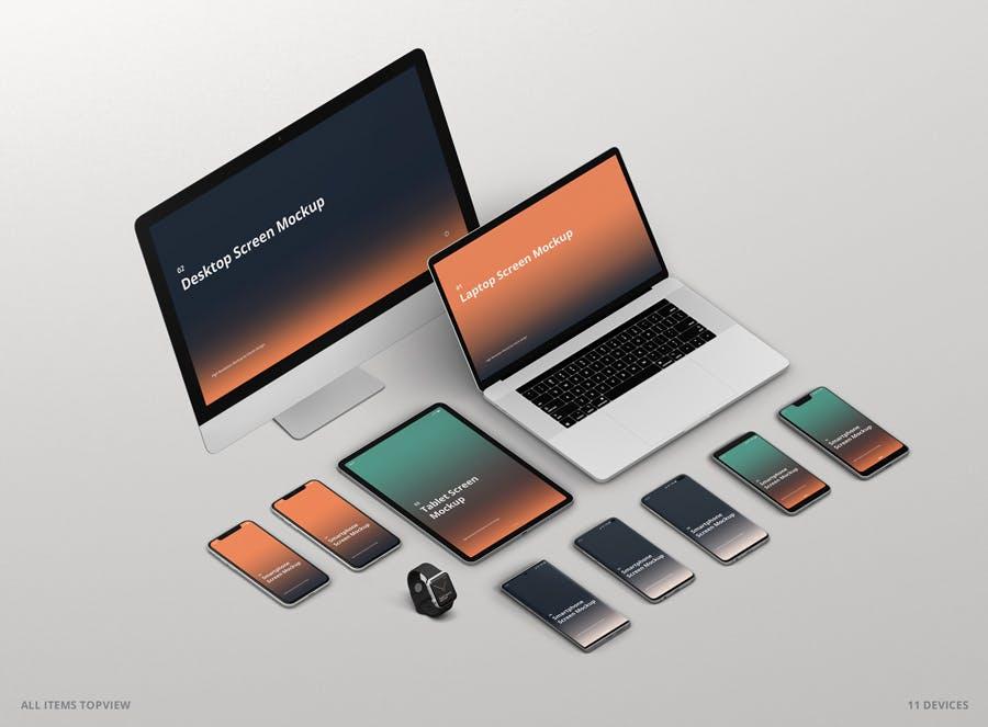 11种不同的设备样机素材下载Multi Device Screen Mockup Creator插图(9)
