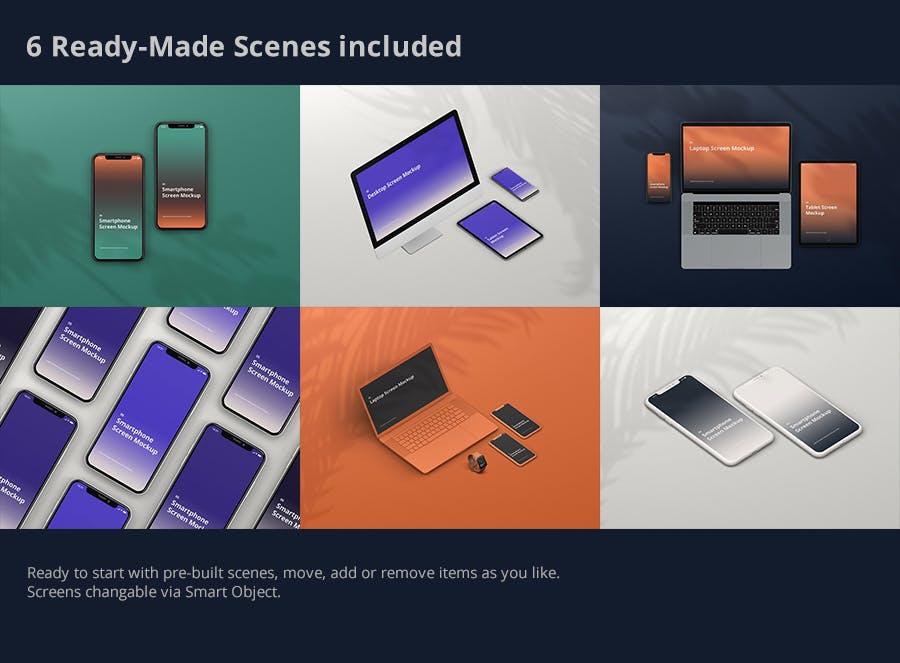 11种不同的设备样机素材下载Multi Device Screen Mockup Creator插图(11)