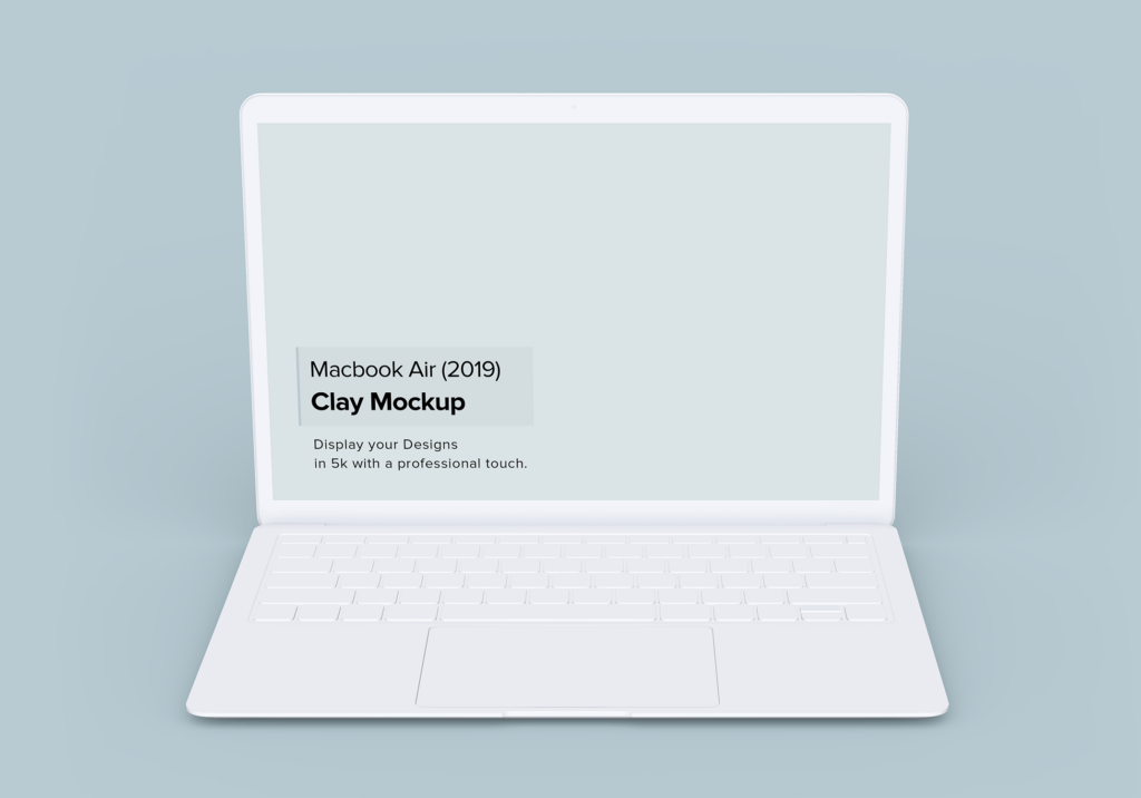 高端多种透视角度Macbook Air苹果电脑素材样机Minimal Macbook Air Mockup插图(1)
