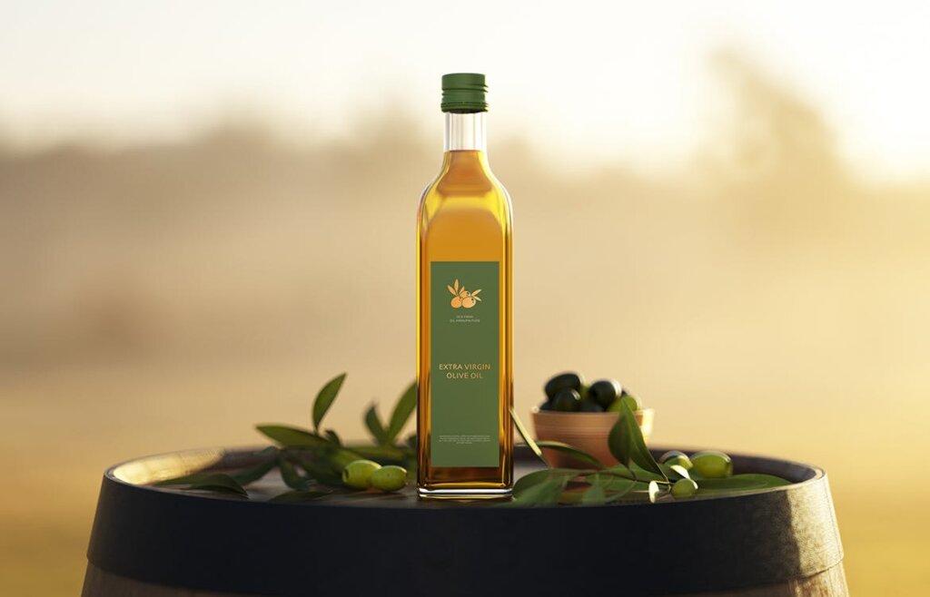 橄榄油多角度素材模板样机下载Olive Oil Bottle Mock up插图(1)