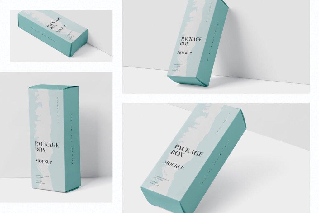高端精致包装盒模型样机素材下载Package Box Mock Up High Rectangle Shape插图(1)