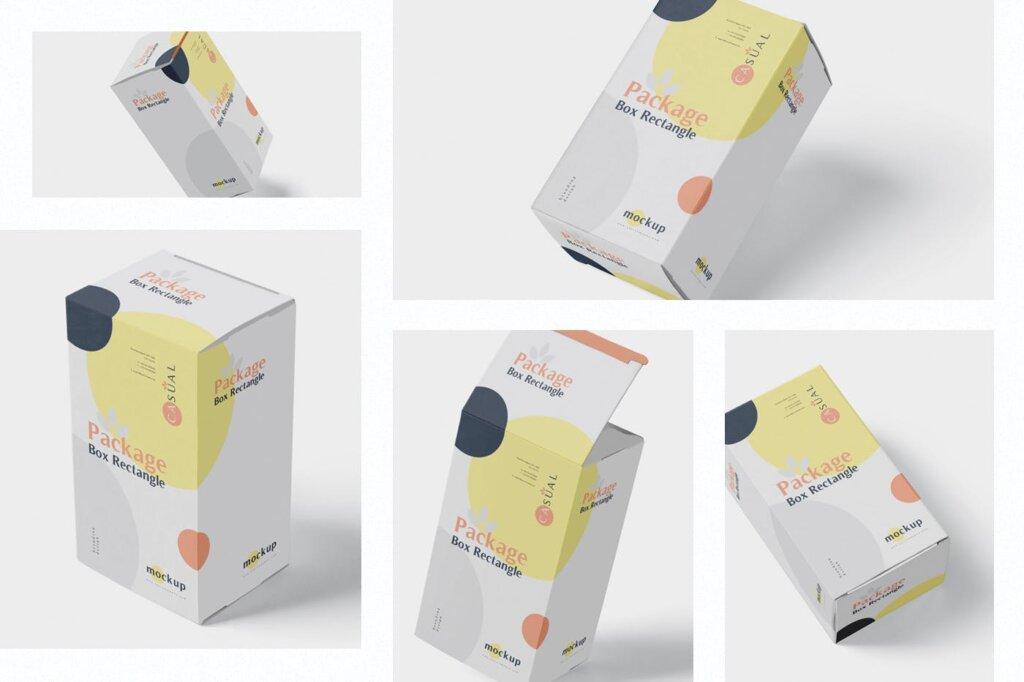 包装盒模型素材样机素材下载Package Box Mock Up Rectangle NMX66G5插图(1)