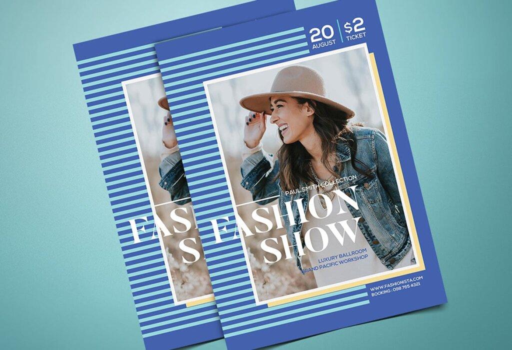 青年时装表演宣传单海报模板Youth Fashion Show Flyer插图(1)