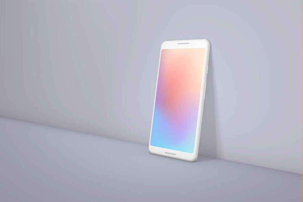 概念手机/谷歌手机多种透视角度素材样机下载Google Pixel Android Clay Mockup Bundle插图(2)