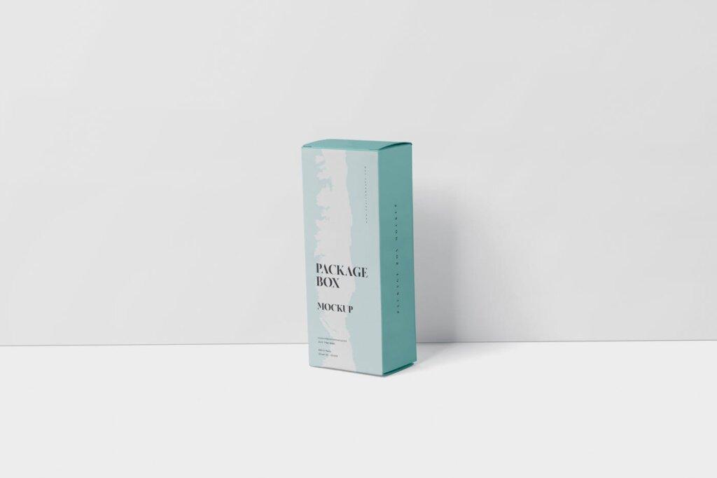 高端精致包装盒模型样机素材下载Package Box Mock Up High Rectangle Shape插图(2)