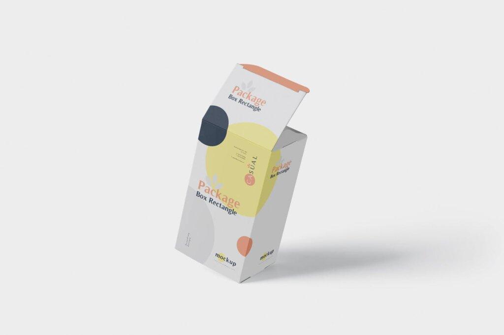 包装盒模型素材样机素材下载Package Box Mock Up Rectangle NMX66G5插图(2)