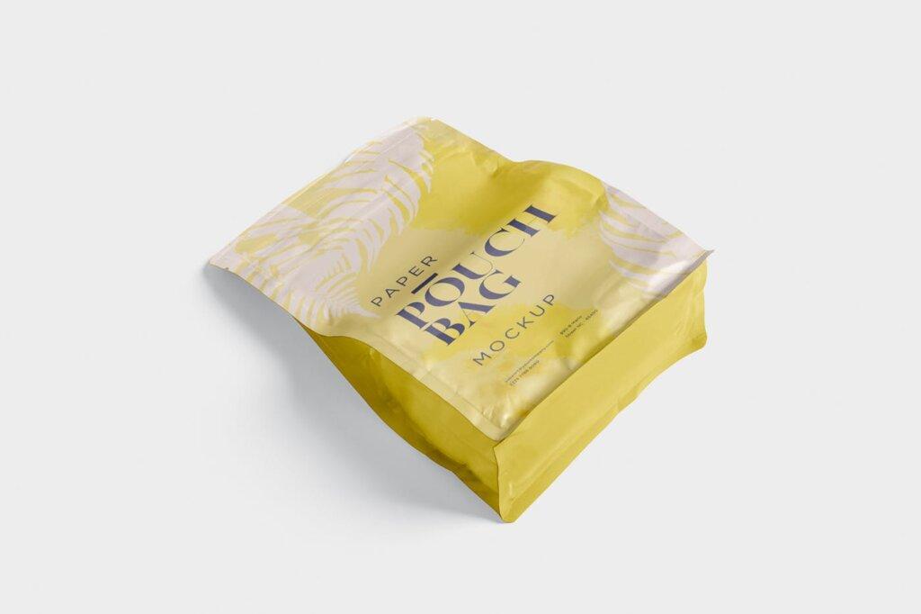 牛皮纸包装袋模型样机素材下载Paper Pouch Bag Mockup 85QZ8AW插图(2)