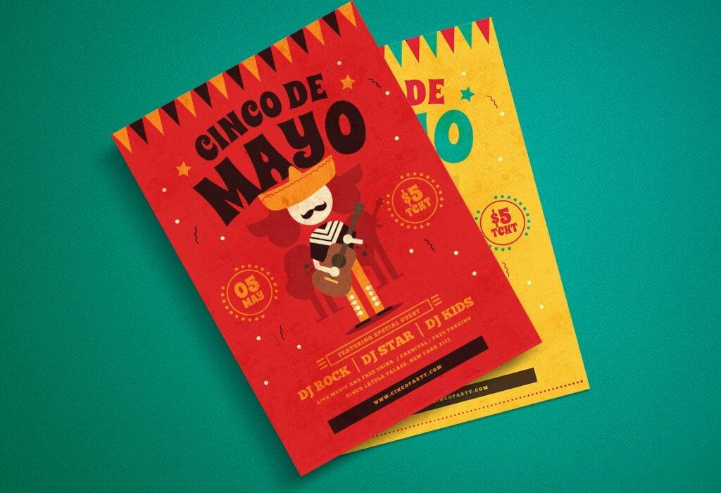传统节日海报传单模板素材下载Cinco De Mayo Flyer YU5TBU插图(3)