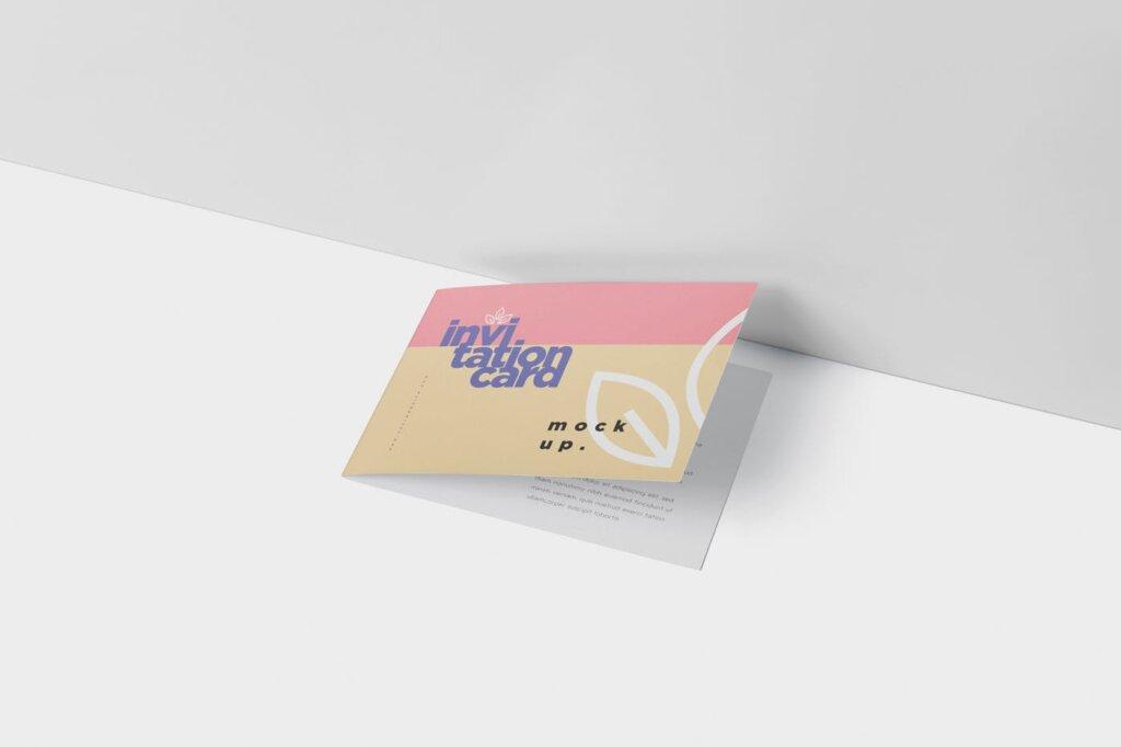 折页邀请函样机素材样机下载Invitation Card Mock Up Set插图(3)