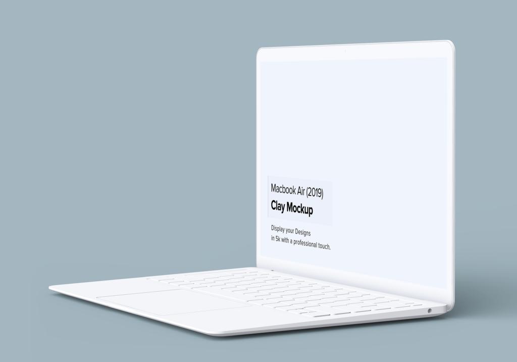 高端多种透视角度Macbook Air苹果电脑素材样机Minimal Macbook Air Mockup插图(2)