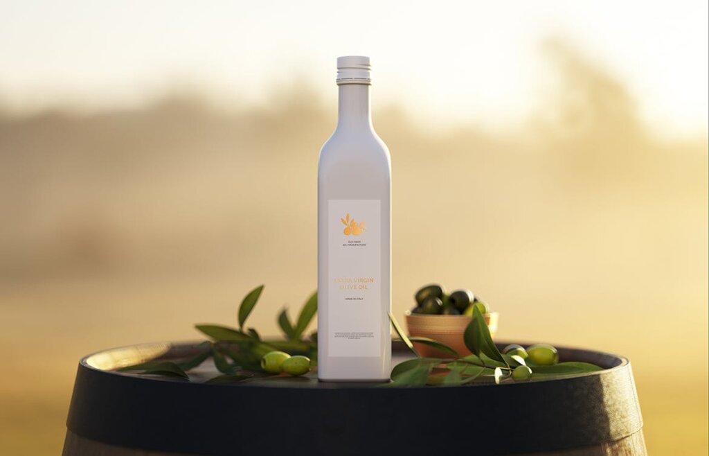 橄榄油多角度素材模板样机下载Olive Oil Bottle Mock up插图(3)