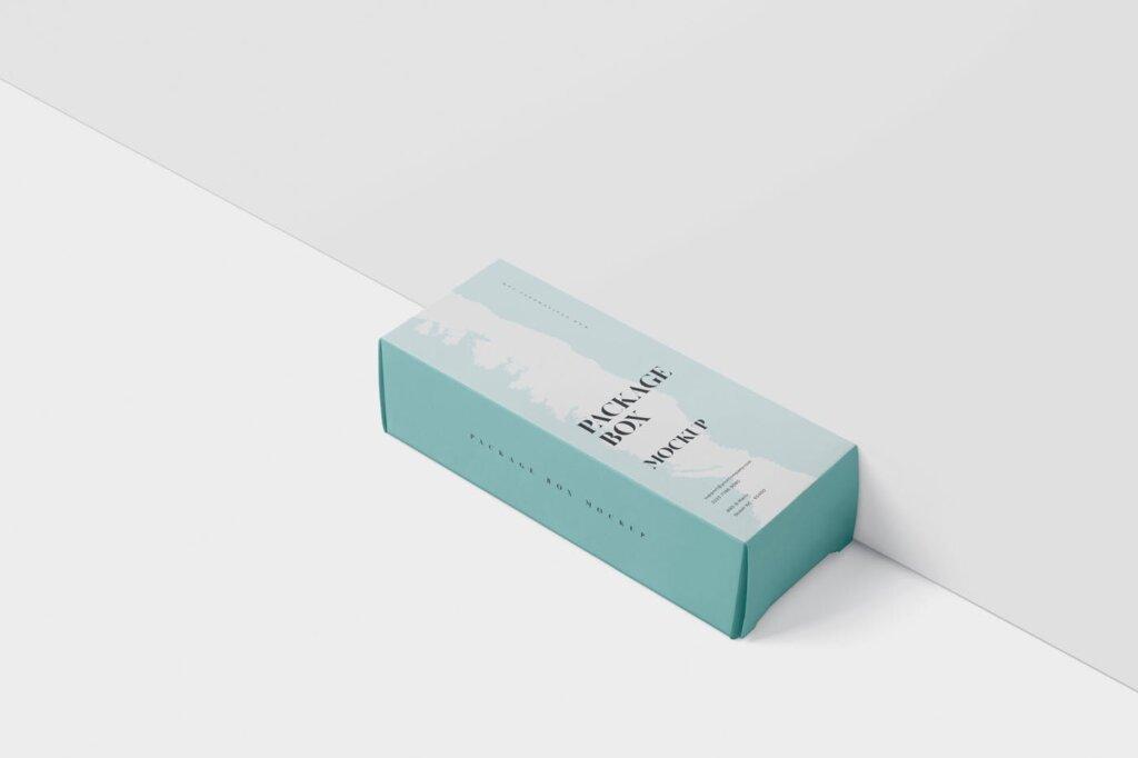 高端精致包装盒模型样机素材下载Package Box Mock Up High Rectangle Shape插图(3)