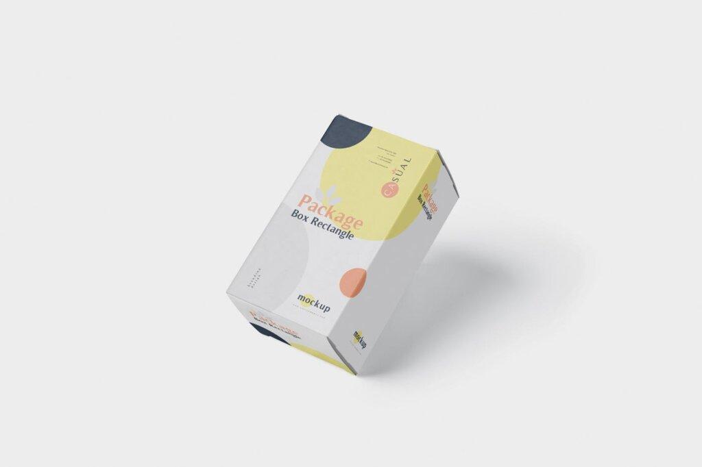 包装盒模型素材样机素材下载Package Box Mock Up Rectangle NMX66G5插图(3)