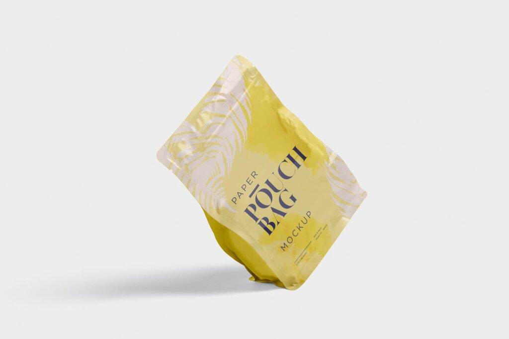 牛皮纸包装袋模型样机素材下载Paper Pouch Bag Mockup 85QZ8AW插图(3)