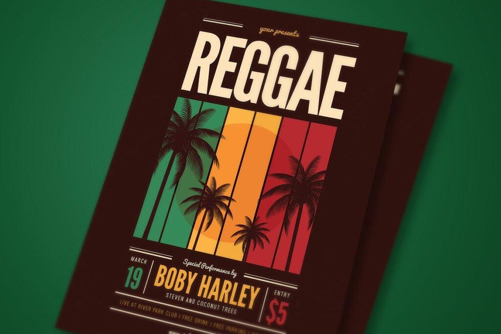 音乐派对传单海报素材模板Reggae Music Party Flyer插图(3)