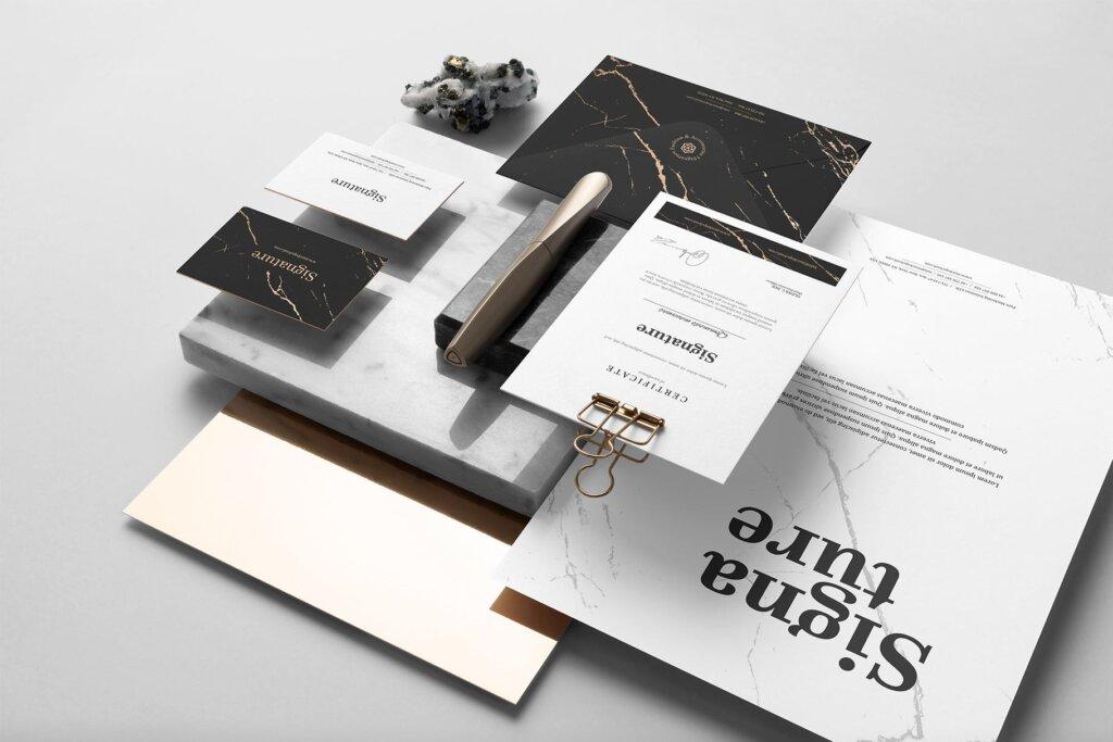 高品质办公品牌VI样机模型素材下载Signature Branding Mockup Vol. 1插图