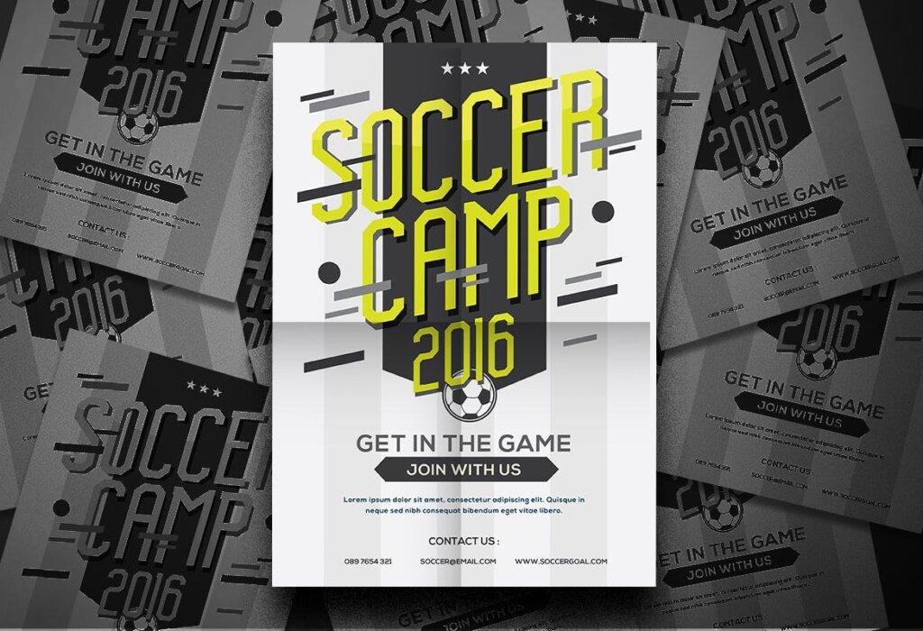 足球夏令营海报宣传单模板Soccer Camp Flyer QWMRUX插图(3)
