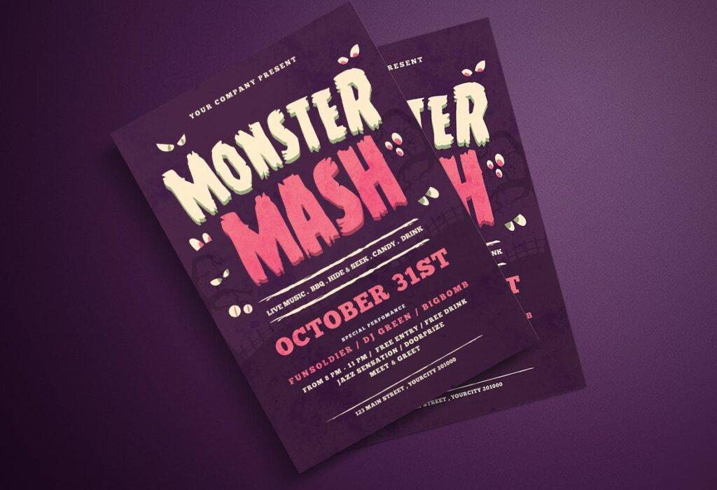 万圣节海报宣传单模板halloween Flyer DWQEMJ插图(3)