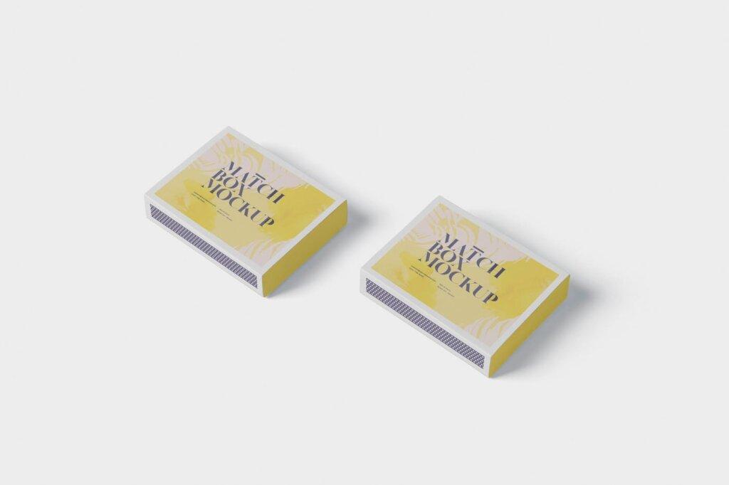 精致文艺高级火柴盒模型样机素材Match Box Mock Up Set插图(3)