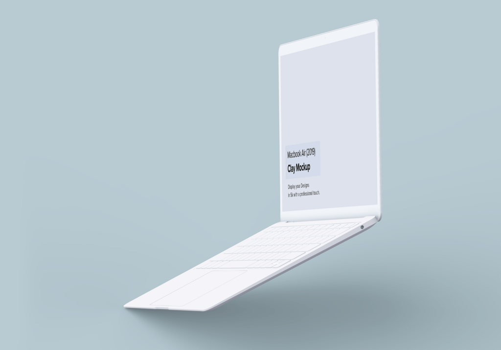 高端多种透视角度Macbook Air苹果电脑素材样机Minimal Macbook Air Mockup插图(3)