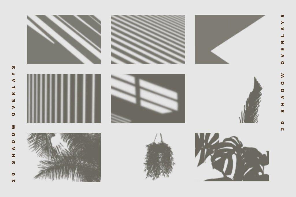 企业品牌办公识别系统模板素材样机下载Shadow Overlay Stationery Mockup Set插图(4)