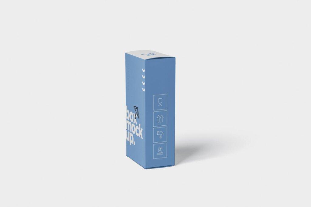 优质礼盒样机样机素材下载Box Mockup Long Vertical Rectangle插图(5)