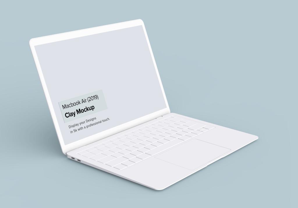 高端多种透视角度Macbook Air苹果电脑素材样机Minimal Macbook Air Mockup插图(4)