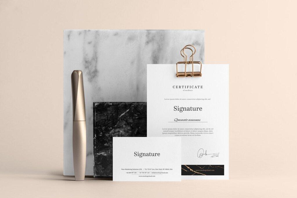 高品质办公品牌VI样机模型素材下载Signature Branding Mockup Vol. 1插图(5)